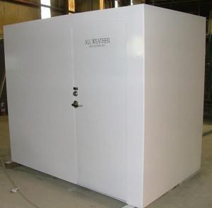 saferoom from side angle 300x294 Tornado Safe Room   All Weather Safe Rooms