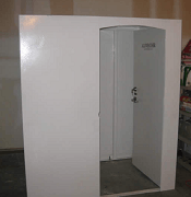 saferoom open door1 Tornado Safe Room Vs Underground Storm Shelters
