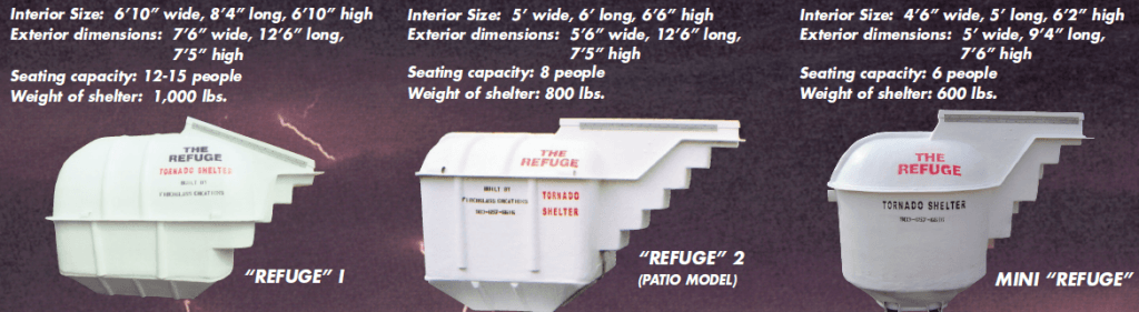 Refuge lineup1 1024x281 How to Select a Storm Shelter or Tornado Safe Room