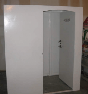 saferoom open door cropped 282x300 How to Select a Storm Shelter or Tornado Safe Room