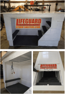 lifeguard shelters 209x300 Storm Shelters, Tornado Safe Rooms & Tornado Shelters