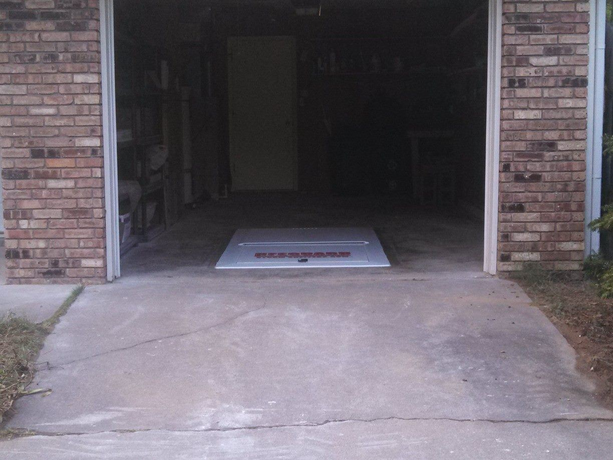 Garage Tornado Shelter : Lifeguard underground garage storm shelter